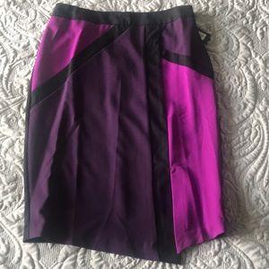 New Worthington Purple and Black Pencil Skirt